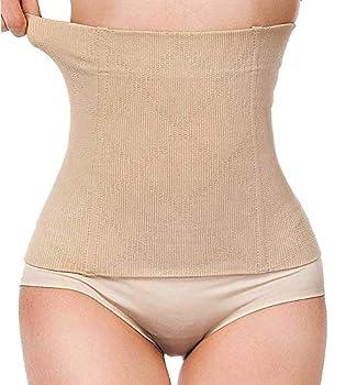 LODAY 2 in 1 Postpartum Recovery Belt,Body Wraps Works for Tighten Loose Skin Beige