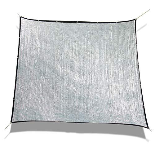 Laxllent Autoschutz Schatten Auto Aluminet Hund Sonnensegel Haustier,80% Reflexion,3x3m,Weich Kratzfest,Schutzfolie Alufolie,Shade Cloth,Quadrat,Silber