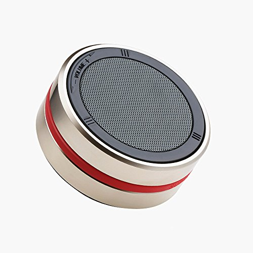 New wireless Bluetooth speakers portable outdoor mini card metal bass cannon Gold