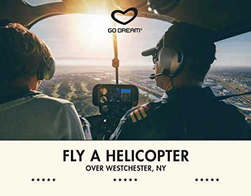 Fly a Helicopter Over Westchester, NY Experience Gift Card NYC - GO DREAM - Sent in a Gift Package