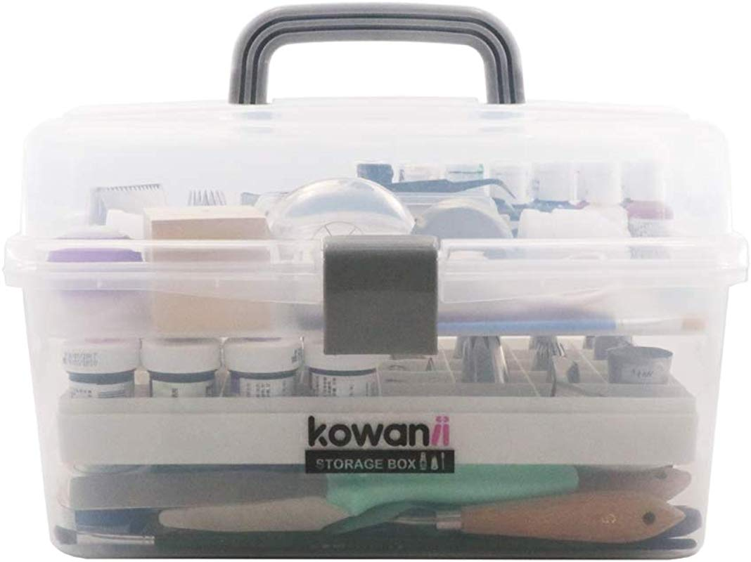 Kowanii Cake Decorating Tools Storage Box Large Organizer Case Caddy Container Cabinet Bin For Icing Piping Tips Kit Kitchen Baking Tools Accessories Supplies Bakeware