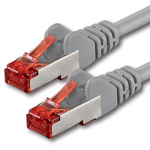 20m - grigio - 1 pezzo - Cavo di Rete Cat6 Lan RJ45 1000Mbit s S-FTP CAT 6 PIMF Cavo Patch 1000Mbit s compatibile con Cat.5 Cat.6 Cat.7 Cat.8