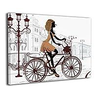 Skydoor J パネル ポスターフレーム バイシクル パリ インテリア アートフレーム 額 モダン 壁掛けポスタ アート 壁アート 壁掛け絵画 装飾画 かべ飾り 30×20
