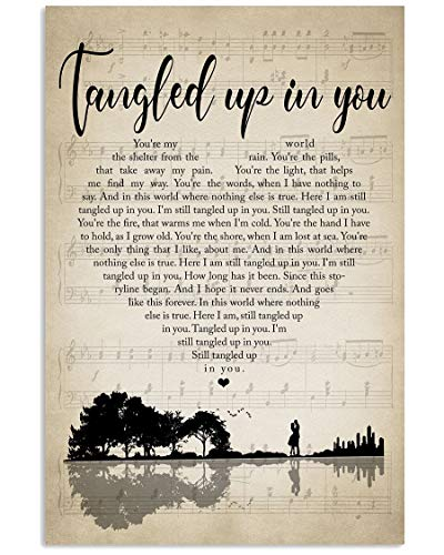 Pretty Shine #Staind Tangled Up in You Lyrics Song Poster Gift for Fans Men Woman Poster Home Art Wall Posters [No Framed]