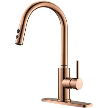 Copper Rose Gold Kitchen Faucet Kitchen Sink Faucet Sink Faucet Pull Down Kitchen Faucets Bar Kitchen Faucet Rv Kitchen Faucet Rulia Rb1025 Amazon Com