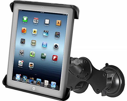 Ram Mount RAM-B-189-TAB3U RAM Double Twist-Lock Suction Cup Mount with Tab-Tite Universal Spring Loaded Cradle for the Apple iPad 1-4 With Or Without Light Duty Case