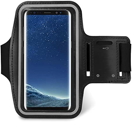 6 3 Black Sport Water Resistant Touch Screen Armband Compatible for Samsung Galaxy Note 9 8 product image
