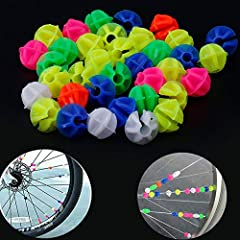 1.A variety of color design, simple and cute, is loved by children. And you can allow your child to decorate his own bicycle and cultivate his child's hands-on skills. 2.This multicolor bicycle spoke easy to install and remove, children just need to ...
