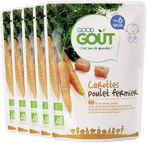 Good Goût - BIO - Carottes Poulet dès 6 mois 190 g - Lot de 5