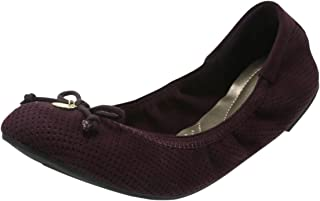 d0e3a8c47ac dexFlex Comfort Black Violet Perforated Women s Caroline String Tie Flat  8.5 Regular