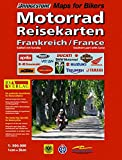 RV Motorrad-Reisekarte Frankreich Süd mit Korsika (Motorrad Reisekarten 1:300.000)