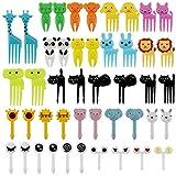 46 Piezas De Tenedores De Frutas De Animales,Mini Tenedores De Frutas Para