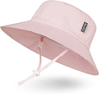 Ami&Li tots Adjustable Sunscreen Bucket Sun Protection Summer Hat for Baby Girl Boy Infant Kid Toddler Child UPF 50