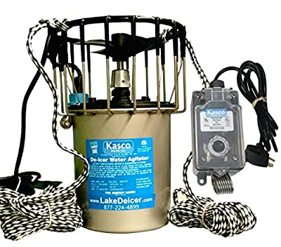 1hp Kasco Marine Lake & Pond De-icer - 120v Deicer with C-10 Timer Thermostat Controller