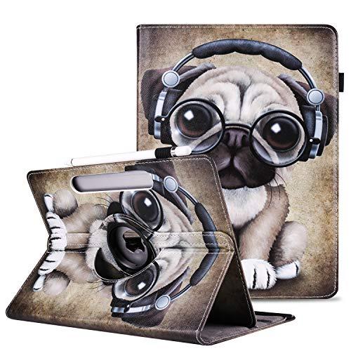 Coque Étui Universel Tablette 10.0 Pouces, SpiritSun 360° Rotation Housse en PU Cuir Magnétique Flip Etui Housse de Protection pour Samsung Tab S2 9.7 Huawei 9.5-10.5 Pouces Tablette Case, Shar Pei