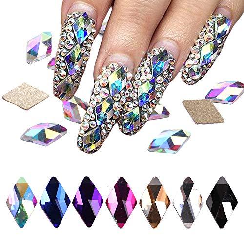 crystal rhinestone for nails 70Pcs Diamond Crystal Nail Rhinestone Gemstone Pearl 3D Nail Art Mobile Sewing Multicolor AB Crystal Bead Flash DIY