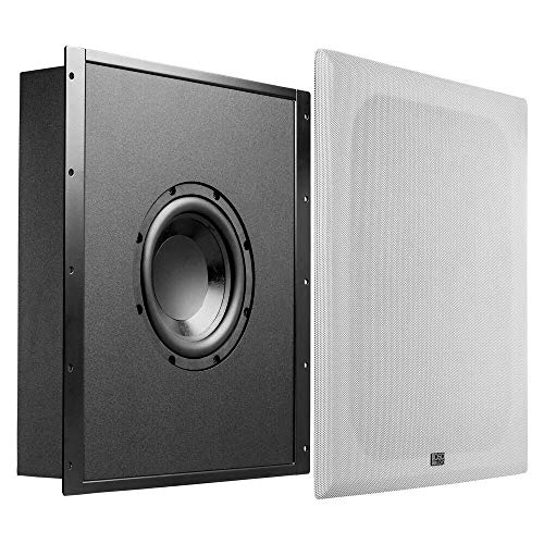 "OSD Audio 200W Trimless in-Wall Subwoofer with 8"" Woofer and a Sealed and Tuned Enclosure - NERO-FS800 (Renewed)"
