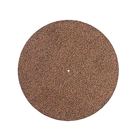 Rrunzfon La Placa giratoria Placa de Corcho Registro alfombras de Goma Plato Audiófilo Slipmat Antideslizante Elimina el Polvo de los Discos de Vinilo de café