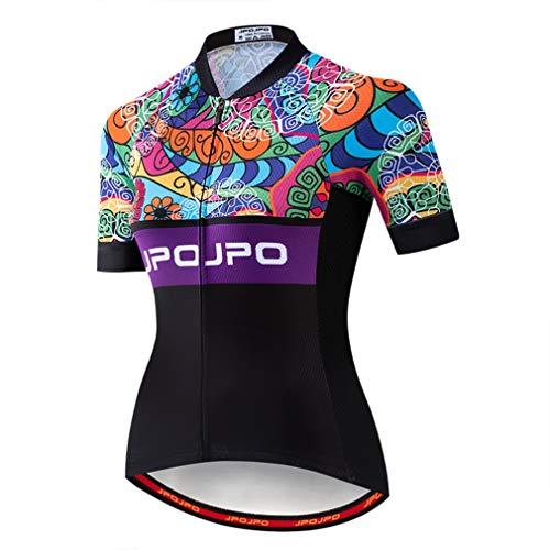 Maglia da ciclismo estiva da donna per bicicletta da strada MTB Bike Jersey Top - nero - XL