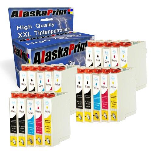Premium cartucce stampante compatibili come ricambio per EPSON T1811XL–T1814(Nero, Ciano, Magenta, Giallo) 20er Set
