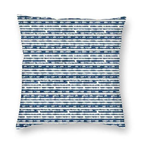 BONRI Funda de almohada cuadrada con diseño de rayas de acuarela abstracta, 60,9 x 60,9 cm, suave y fácil de cuidar, ligera, antiarrugas, antiincrustante, cremallera invisible