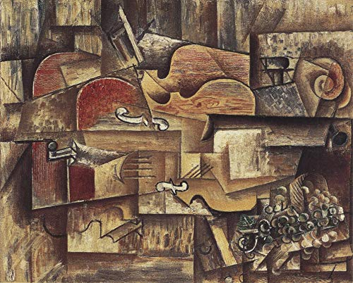 Filmposter 376 Pablo Picasso Violine und Trauben 1912, hochwertig, Wanddekoration, Canvas A3