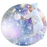 PLOKIJ Dreamy Atmosphere - Alfombra de algodón Ultra Suave para bebé, Alfombra Redonda de área para Juegos para niños con un diámetro de 70 x 70 cm, Multi01, 70x70cm/27.6x27.6IN