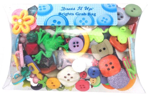 Robe It Up-Bright Boutons Assortis Multicolore