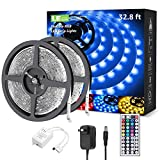 【Versatile Lighting】Two rolls of 16.4ft led strips can create different situation atmosphere with color changing lighting. With 6 DIY color and 8 modes, you can use this waterproof flexible led light strip to diy your favorite color outdoors. 【Comple...