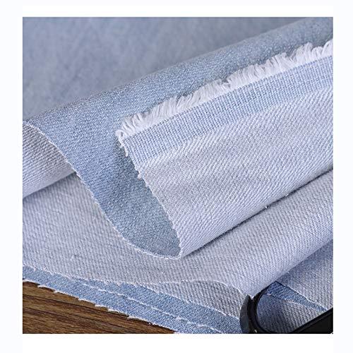 Tejidos de Mezclilla de Calidad Tejido de Algodón Liso Adecuado Para Chaquetas, Abrigos, Faldas de Mezclilla, Jeans De 150 cm de Ancho por Metro