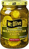 Mt. Olive Old Fashioned Sweet Bread & Butter Chips 16 Oz (Pack of 3)...