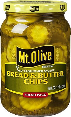 Mt. Olive Old Fashioned Sweet Bread & Butter Chips 16 Oz (Pack of 3)