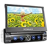XOMAX XM-D761 Autoradio con mirrorlink, vivavoce bluetooth, schermo touch screen 7 pollici / 18 cm, RDS, DVD/CD, USB, SD, AUX, 1 DIN