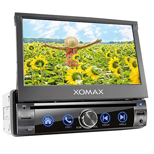 XOMAX XM-D761 Autoradio mit Mirrorlink, Bluetooth Freisprecheinrichtung, 7 Zoll / 18cm Touchscreen Bildschirm, RDS, DVD/CD, USB, SD, AUX, 1 DIN