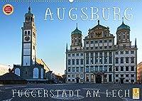 Augsburg - Fuggerstadt am Lech (Wandkalender 2022 DIN A2 quer): Impressionen aus Augsburg, der wunderbaren Fuggerstadt am Lech (Monatskalender, 14 Seiten )