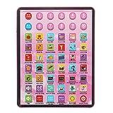 VIDOO Enfants Éducatifs Tablet Pad Ordinateur pour Les Enfants Apprenant Anglais Enseignement Jouet Cadeau- Rose