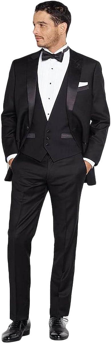 Newdeve Men's 5-Pieces Regular Fit Suit Jackets Tux