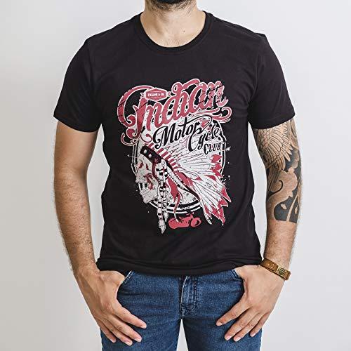 Camiseta Masculina Fallon Indian Motorcycle Club Preta (XGG)
