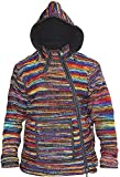 SHOPOHOLIC FASHION Tyedye - Chaqueta de lana con cuello cruzado para hombre