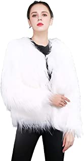 ZWWZ Ladies Women Long Sleeve Warm Fluffy Faux Fur Coat Jacket Winter Solid Color Outwear