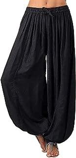 Realdo Women Harem Yoga Pants, Womens Plus Size Solid Color Casual Loose Pants Women Trousers