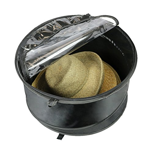 The Elixir Deco Premium Extra Large Pop up Hat Storage Box Hat Boxes for Women Storage Hat Box Storage Travel Case Bag Round Hat Containers, Keeps Out Dust and Dirt