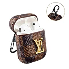 1.100% brand new, high quality. The sleek design makes the headphone case more stylish. The professional and lightweight design is perfect for your beloved wireless headphones. 2.100% compatible with Airpods 1 & 2, precisely fit your airpods charging...