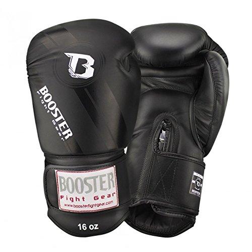 Booster BGL-1 V3 Boxhandschuhe Black / Black Foil Leder, Unzen:14 oz
