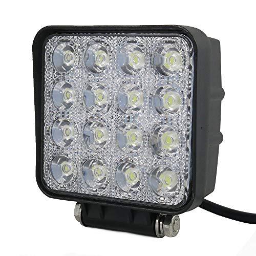 PoJu Barres lumineuses LED voiture feux tout-terrain Refit Lamps Étanche 48W feux de travail auxiliaires lumières d'inspection haute puissance super lumineux LED