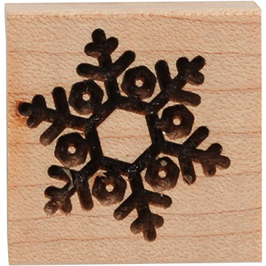 CLEARSNAP Wood Mount Stamps 1-inch-by-1-inch, 1.0 X 1.0, Snowflake