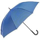 [ムーンバット] GENTS エクセルジェンツ メンズ 紳士 雨傘 長傘 ボーダー プリント ジャンプ スカイブルー 日本 親骨の長さ:約65㎝ 全長:約88㎝ 手元:約16.5㎝ (FREE サイズ)