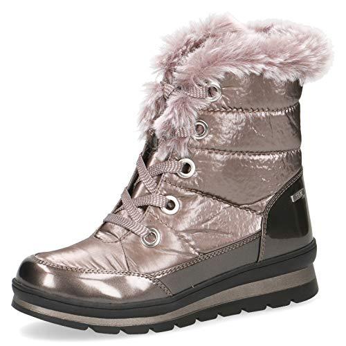 CAPRICE Damen Stiefel, Frauen Winterstiefel,lose Einlage, Winter-Boots fellboots Fellstiefel gefüttert weiblich Lady Ladies,Stone Comb,38 EU / 5 UK