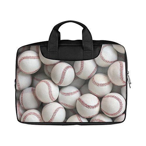 Laptop Notebook Best Friends/Sisters/Brothers Gifts Stylish Baseball Pattern Handle Sleeve Bag Case Cover for 11 inches MacBook Pro(Twin Sides Printing)