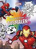 Marvel Helden zum Ausmalen: Ausmalbuch mit über 70 s/w-Vorlagen